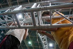 Raising metal structure Royalty Free Stock Images