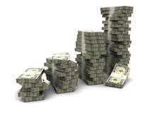 Raising money stacks Royalty Free Stock Photography