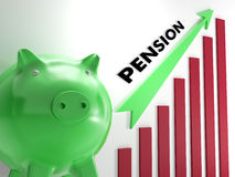 Raising Pension Chart Shows Personal Growth Royalty Free Stock Photography