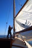 Raising the sail Royalty Free Stock Photo