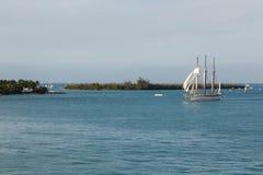 Raising Sails Stock Photo