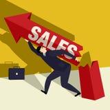 Raising sales Royalty Free Stock Images