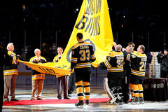Raising the Stanley Cup Banner Stock Photography