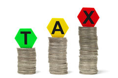 Raising Taxes Royalty Free Stock Photos