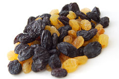Black and yellow raisins Royalty Free Stock Photo