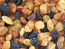 Raisins. Close up of the different colored raisins Royalty Free Stock Photography