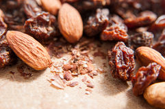 Raisins and almonds Royalty Free Stock Photo