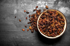 Raisins in a bowl . Royalty Free Stock Photo