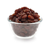 Raisins in a bowl Stock Images