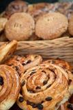 Raisins buns Stock Images
