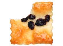 Raisins cookie with a bite Royalty Free Stock Image