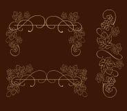 Raisins décoratifs, ornement de vecteur de vigne Illustration Stock