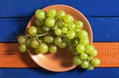 Raisins dans la plaque photo stock