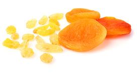 Raisins and dried apricots Royalty Free Stock Photo
