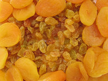 Raisins and dried apricots Stock Images