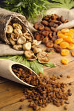 Raisins , dried figs, dried apricots Stock Image