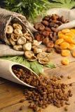 Raisins , dried figs, dried apricots Stock Image
