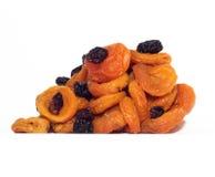 Raisins e alperces secados Fotos de Stock Royalty Free