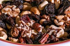 Raisins e porcas Fotografia de Stock