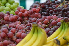 Raisins et bananes Photo stock