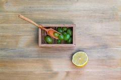 Raisins et citron Photographie stock