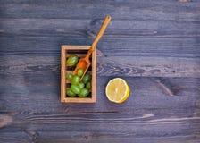 Raisins et citron Image libre de droits