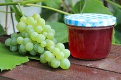 Raisins et gelée de raisin image libre de droits