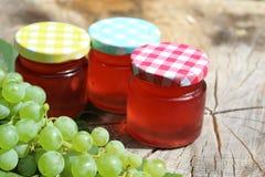 Raisins et gelée de raisin photographie stock libre de droits