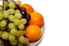Raisins et oranges photo stock