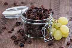 Raisins in a glass Royalty Free Stock Photos