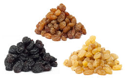 Raisins heaps royalty free stock images