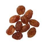 Raisins isolated on white background, close up Royalty Free Stock Images