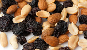 Raisins and nuts Royalty Free Stock Photo