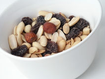Raisins and nuts Stock Image