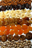 Raisins and nuts Stock Images