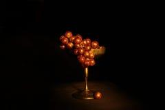 Raisins rouges élégants Photographie stock