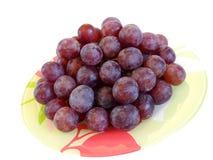 Raisins rouges d'une plaque. Images libres de droits