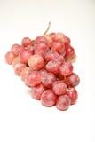 Raisins rouges sur le blanc d'isolement Photo libre de droits