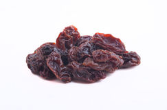 Raisins secs d'isolement images stock