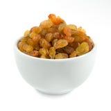 Raisins secs dans une cuvette Image stock
