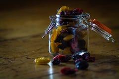 Raisins in a small jar Stock Image