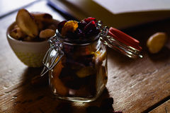 Raisins in a small jar Royalty Free Stock Images