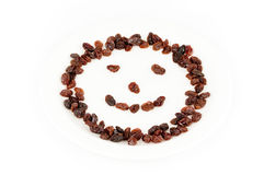 Raisins Smiley Face Stock Image