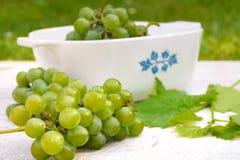 Raisins sur la table en bois blanche Photo libre de droits
