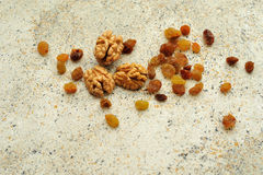 Raisins for texture spotted background Stock Photography