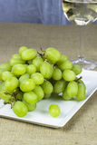 Raisins verts frais Photos stock