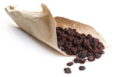 Raisins wrapped in paper Stock Image