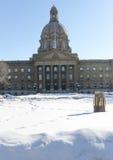 Raisons législatives d'Alberta construisant, horaire d'hiver Photographie stock libre de droits