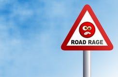 Raiva da estrada ilustração stock