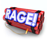 Raiva explosiva da bomba da dinamite da raiva aproximadamente à explosão Imagem de Stock Royalty Free